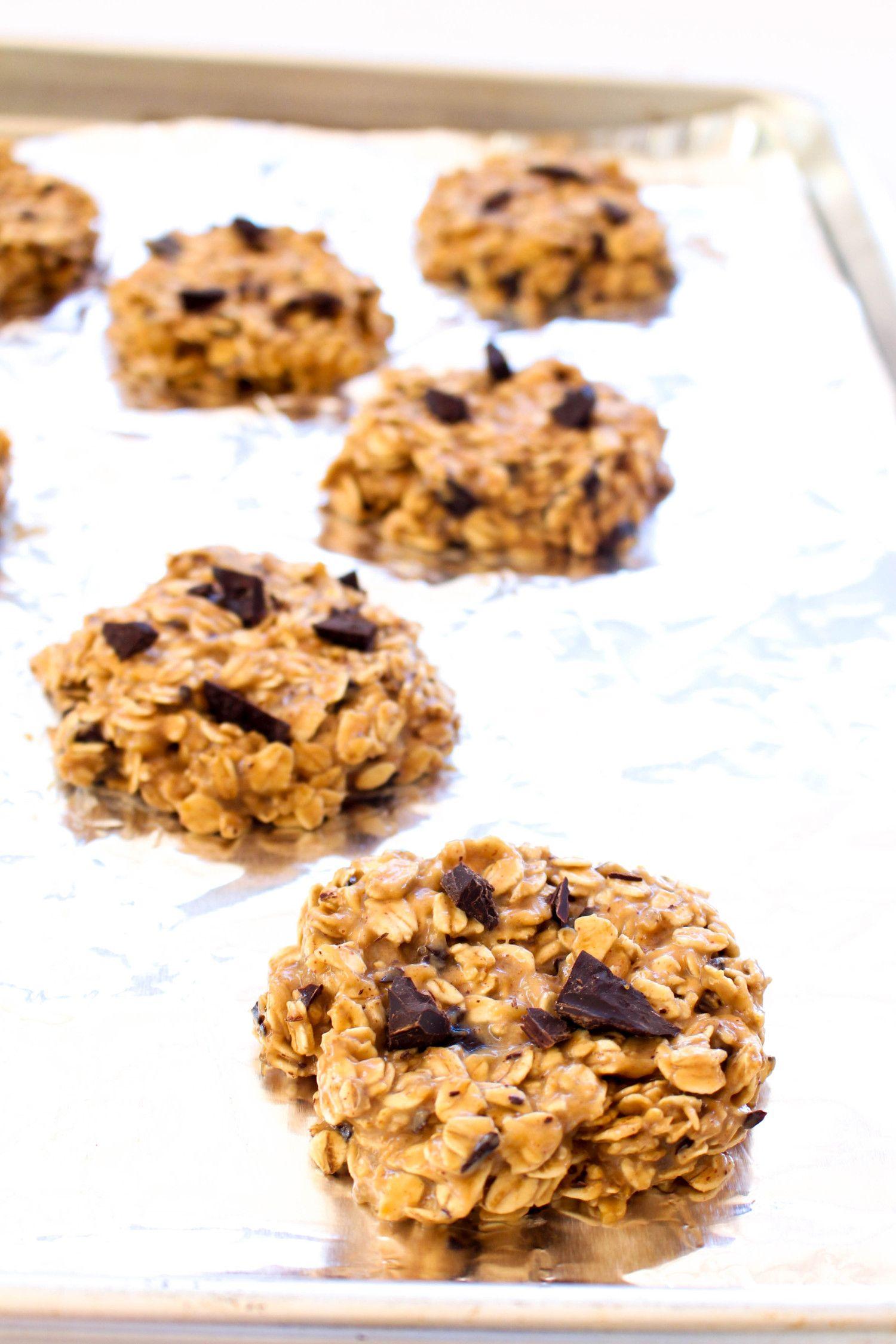 Peanut butter banana breakfast cookies bake