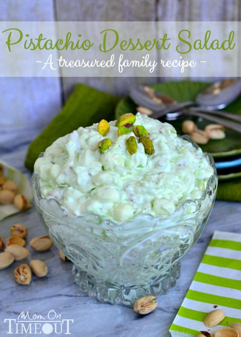 Pistachio dessert salad