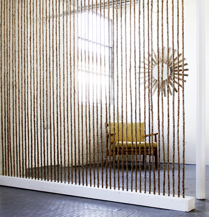 Rope wall diy divider