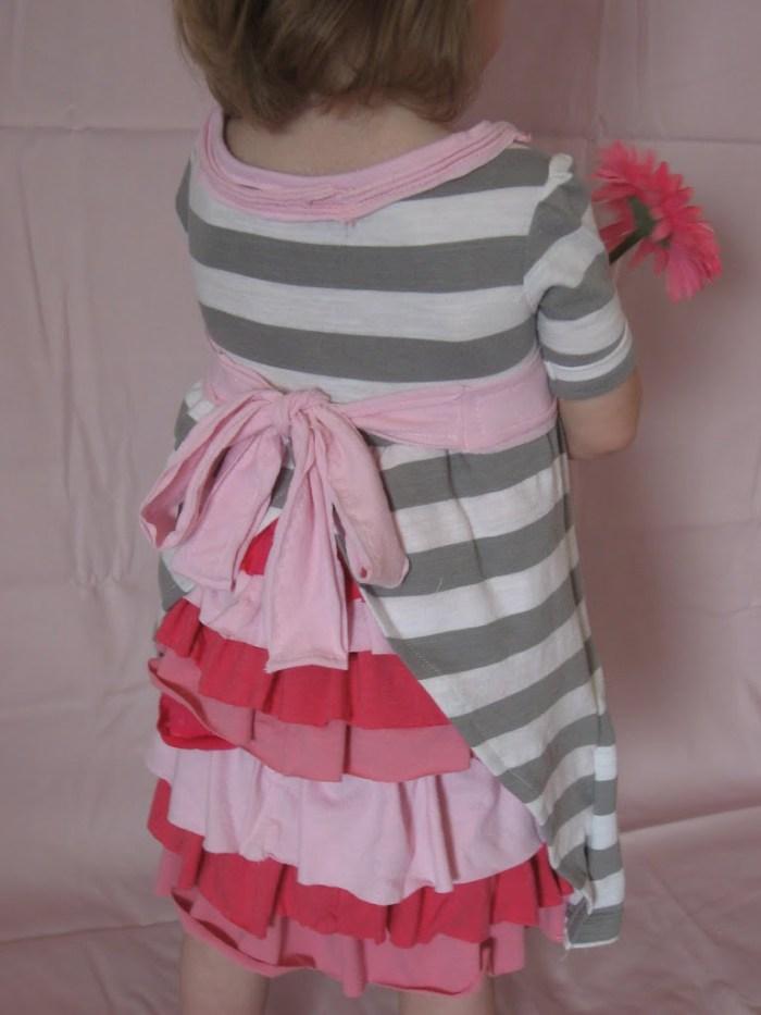 Ruffle backed dress