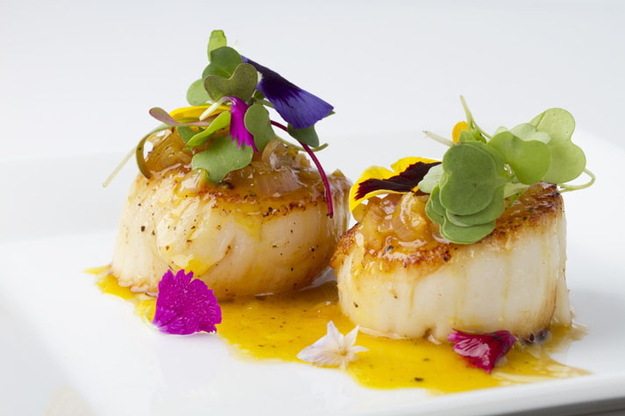 Scallops with orange and ginger