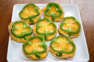 Shamrock chese toasties