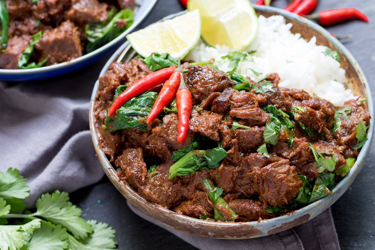 A spicy slow-cooked curry with fall-apart beef. Packed full of flavor!