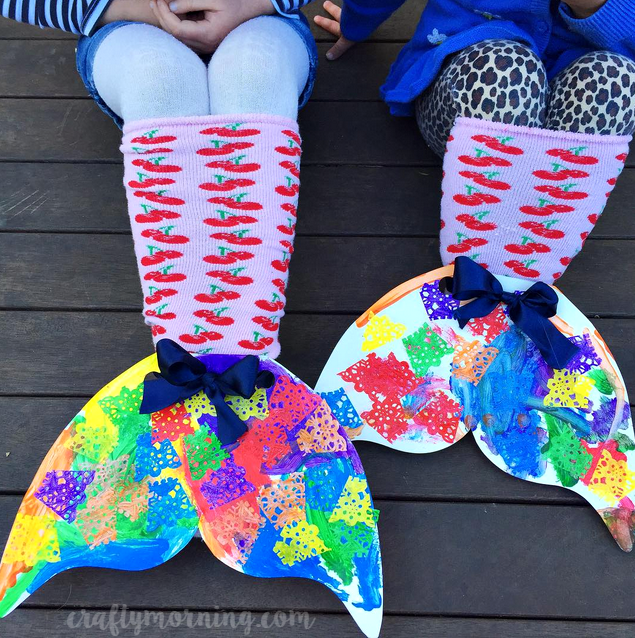 Sock mermaid tails