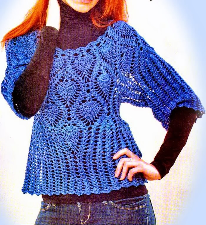 Sophisticated lace sweater