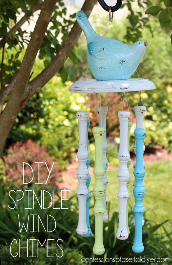 Spindle wind chimes