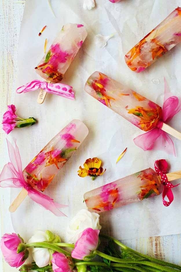 Springtime food and drink recipes that actually involve edible flowers spring bouqurt popsicles add whichever organic edible flowers mightylinksfo