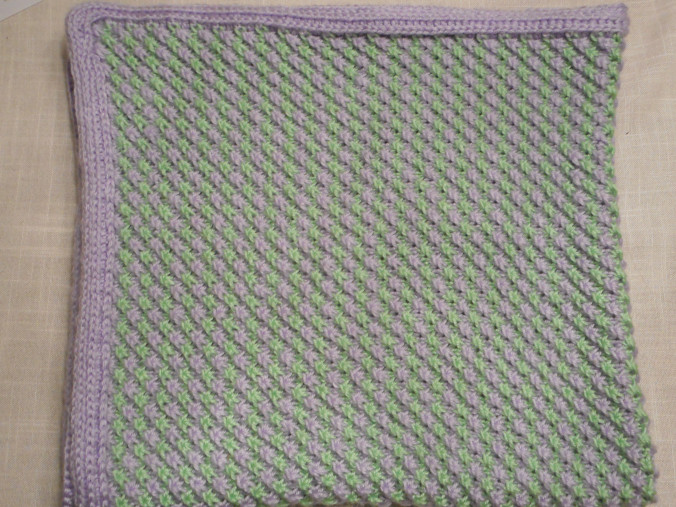 Star stitch baby blanket