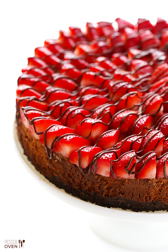 Stawberry nutella cheesecake