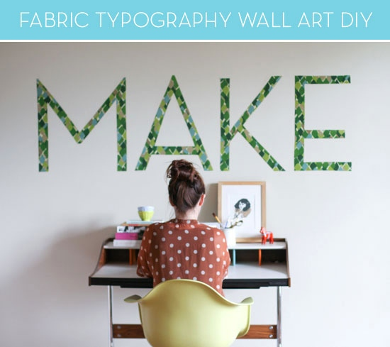 Typography wall decal diy