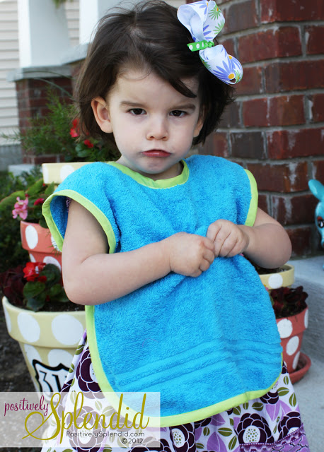 Toddler towel smock