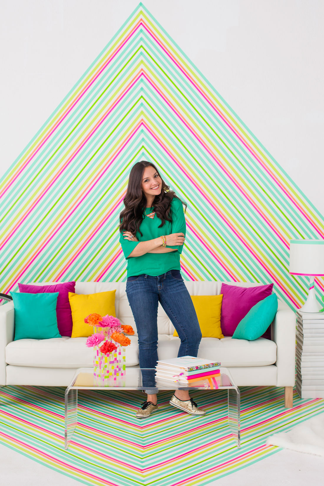 What To Do With Washi Tape jazz up your walls with some of these 50 diy wall decals
