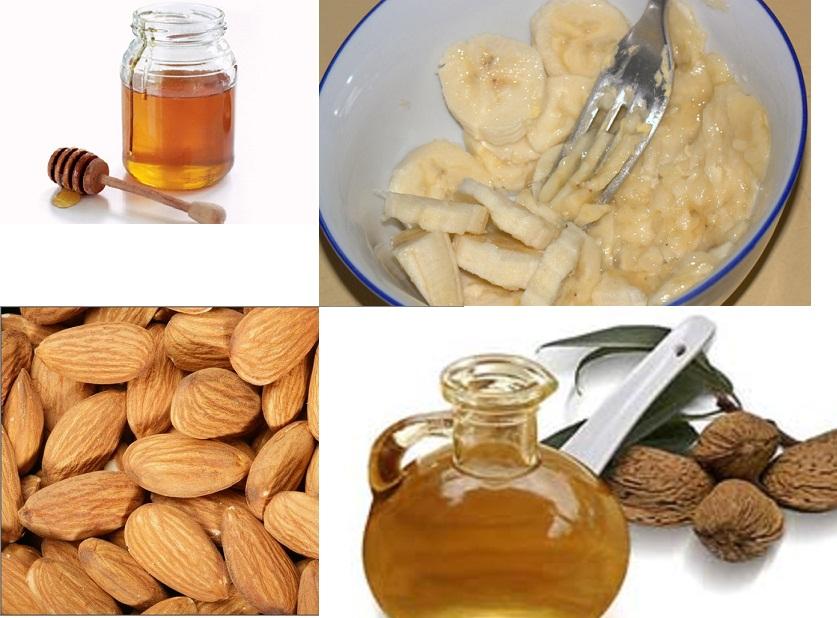 Banana honey almond mask