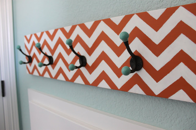 Chevron hat rack diy
