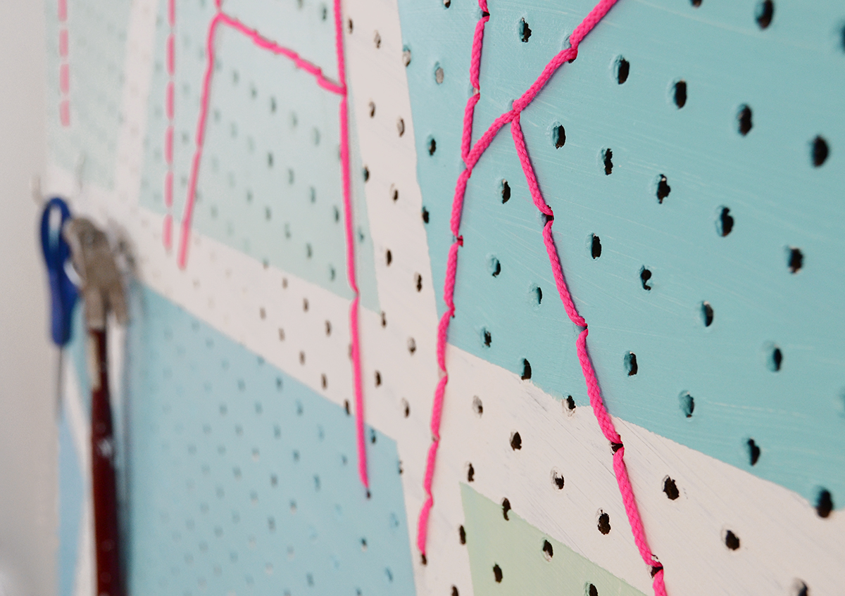 Diy geometric make pegboard 10