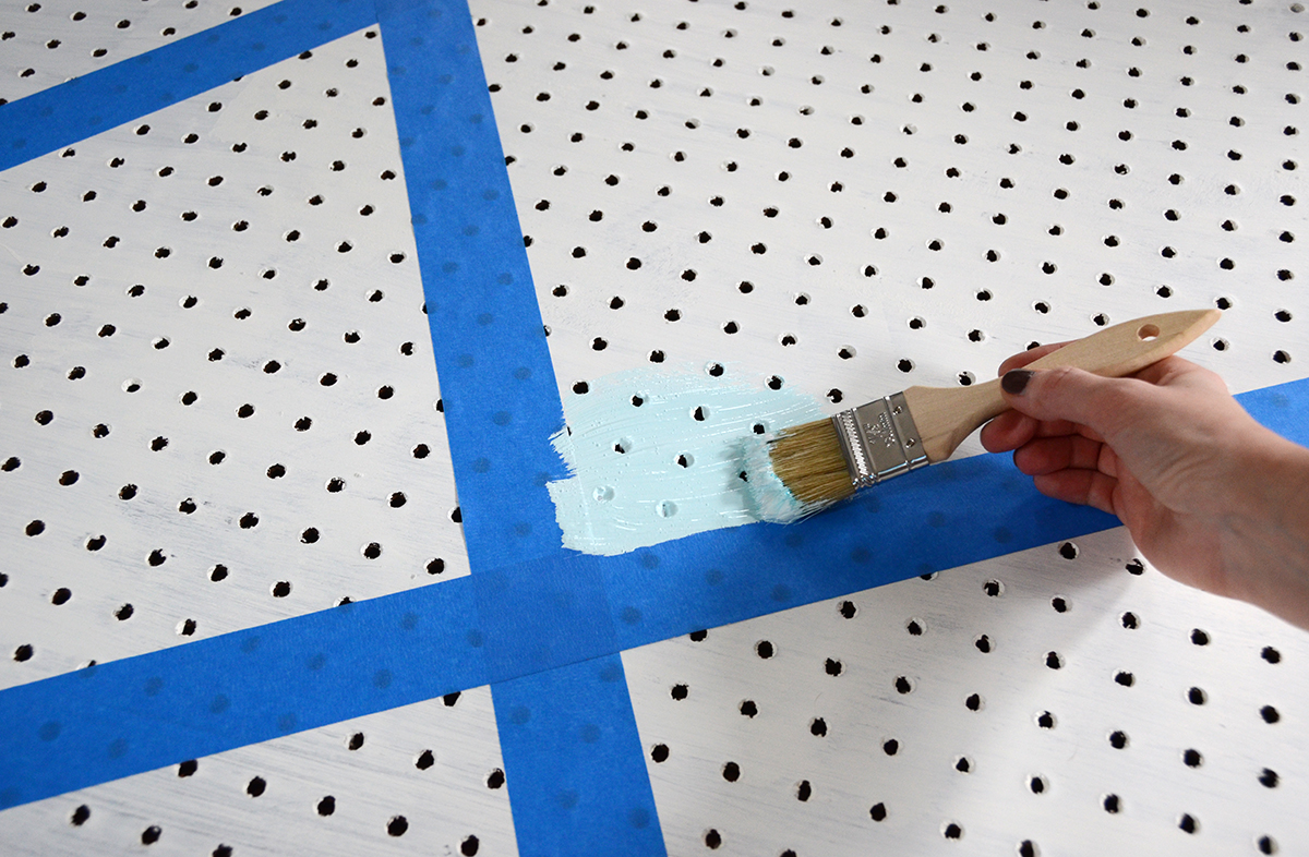 Diy geometric make pegboard 3