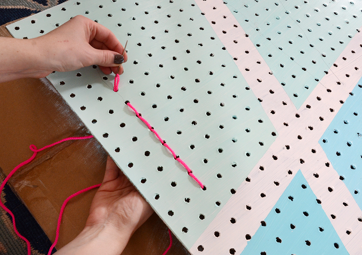 Diy geometric make pegboard 5