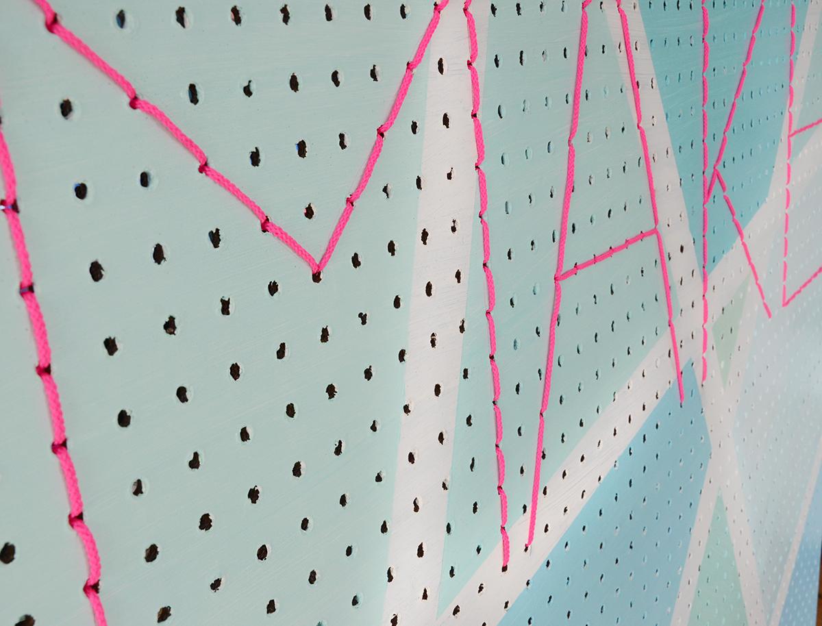 Diy geometric make pegboard 6