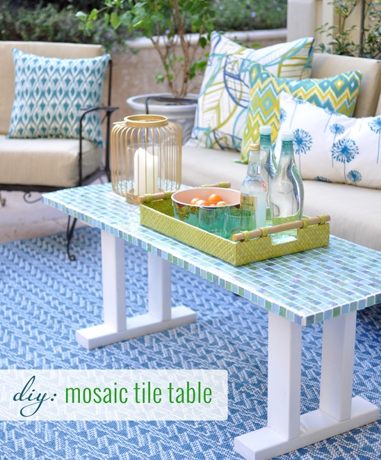 Welcome in the spring with these 26 patio furniture diys diy mosaic tile table solutioingenieria Choice Image