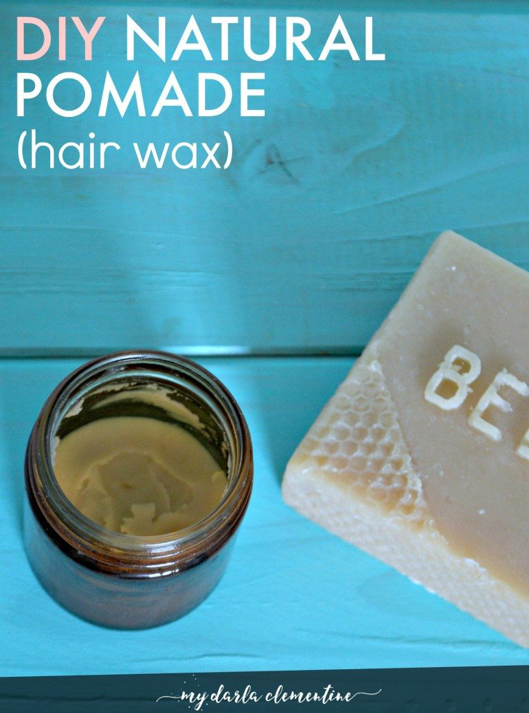 Diy natural pomade hair wax