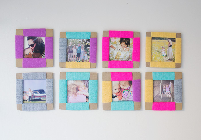 Diy photo frame made from cardboard