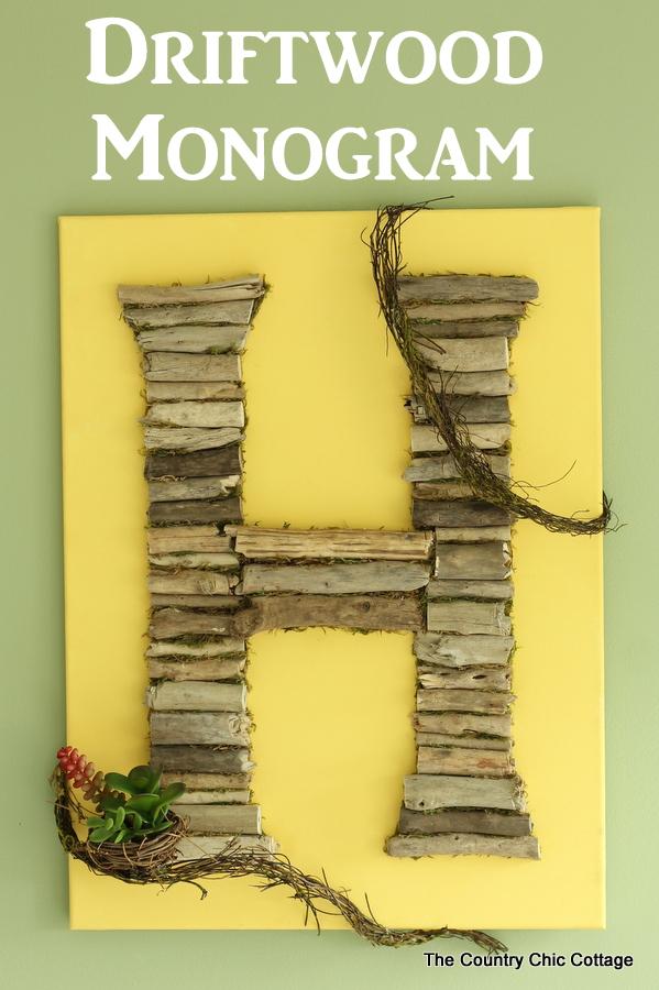 Driftwood monogram