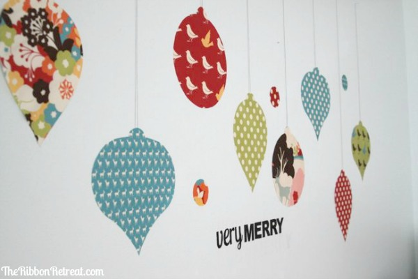 How to make fabric wall decals christmas ornaments 1