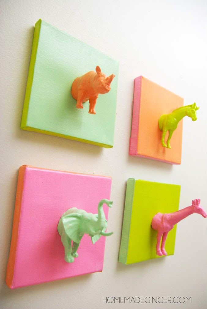 Good Canvas Craft Ideas For Kids Part - 14: Min Animal Canvases Diy