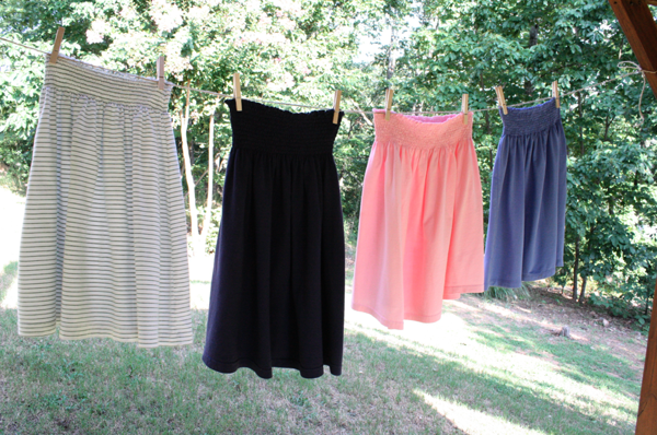 Shirt skirts