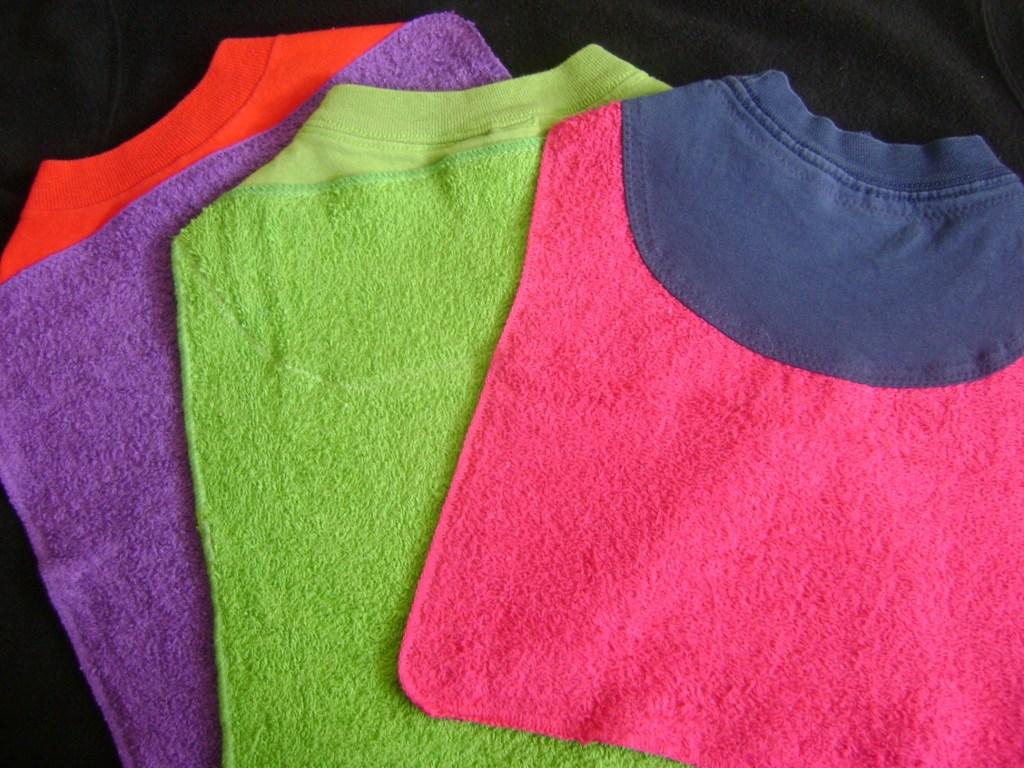 Tshirt and washcloth bibs