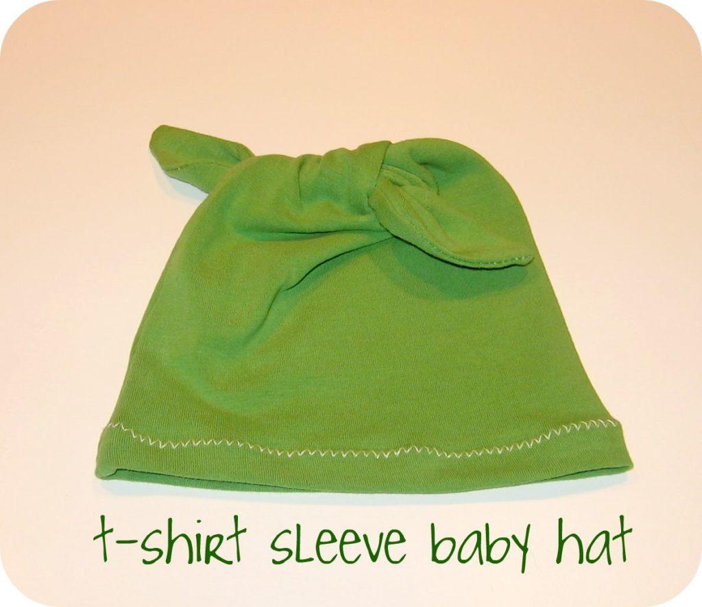Tshirt sleeve baby hat