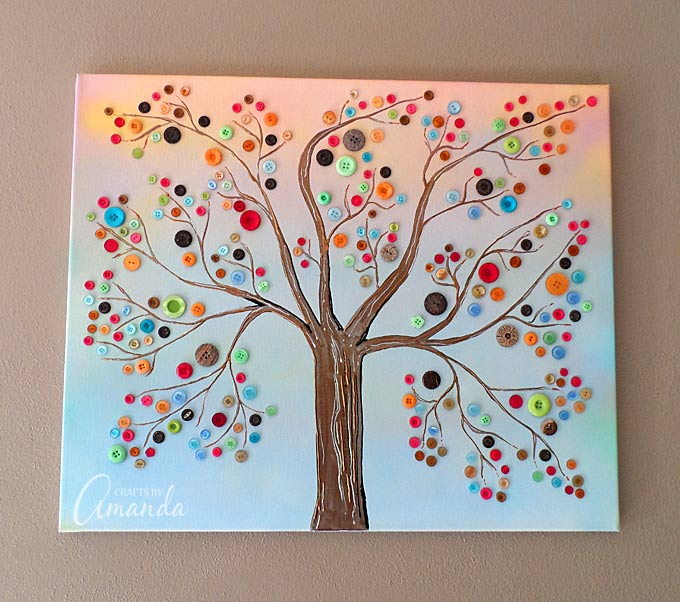 Vibrant button tree amanda formaro top