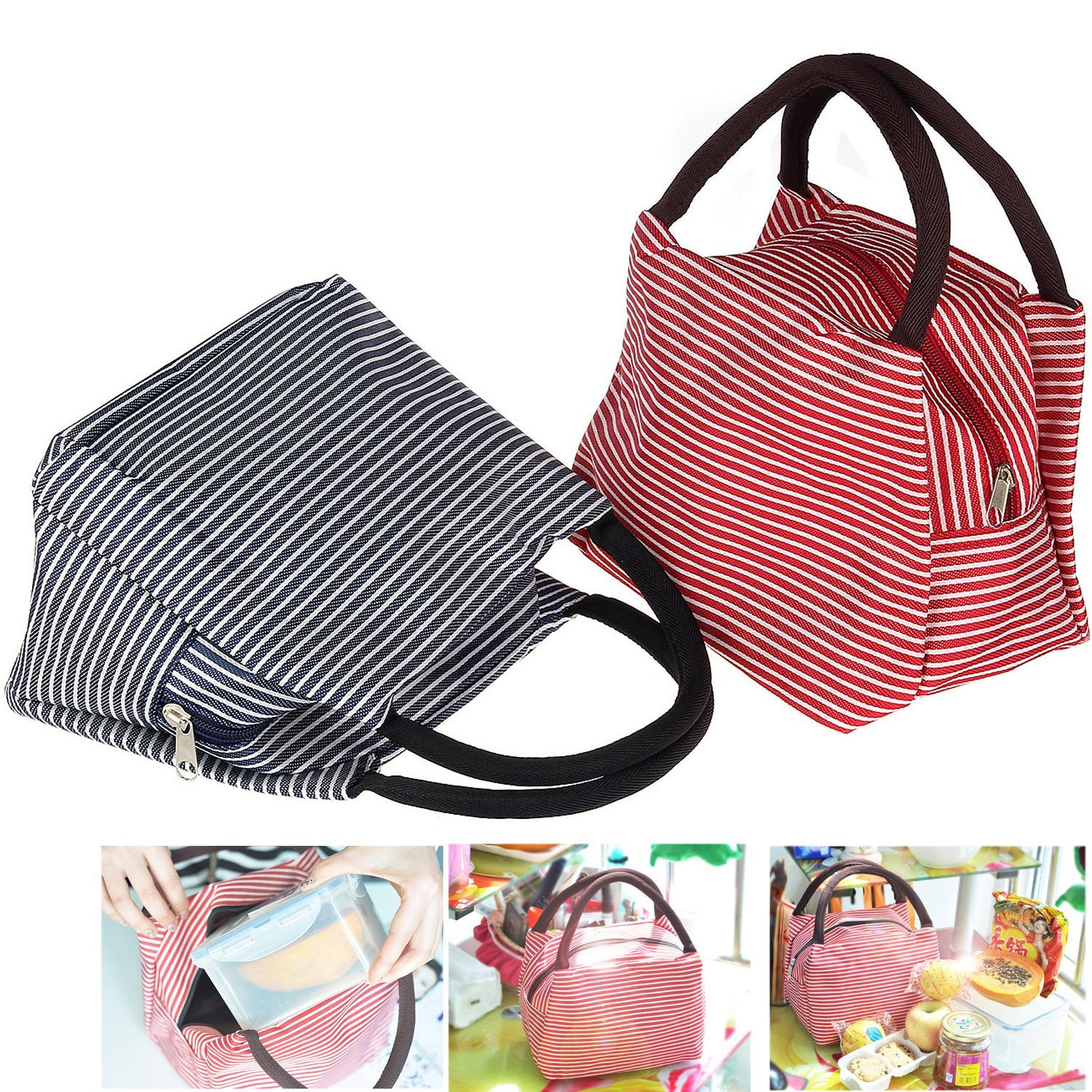 1 Striped Adult Lunch Bag