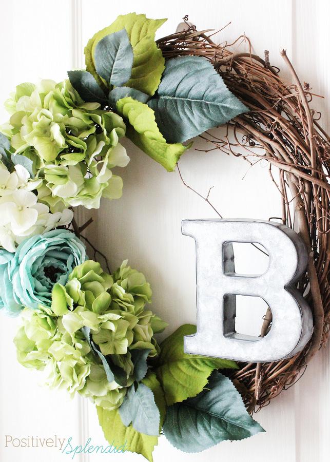 17 floral spring wreath