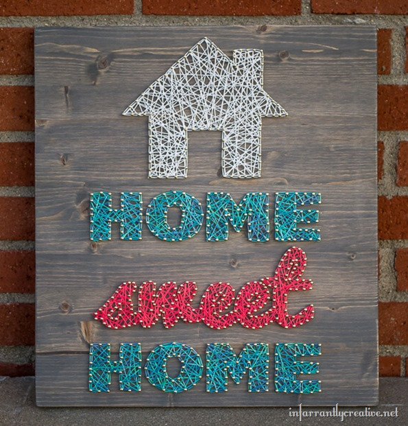 18 home sweet home string art