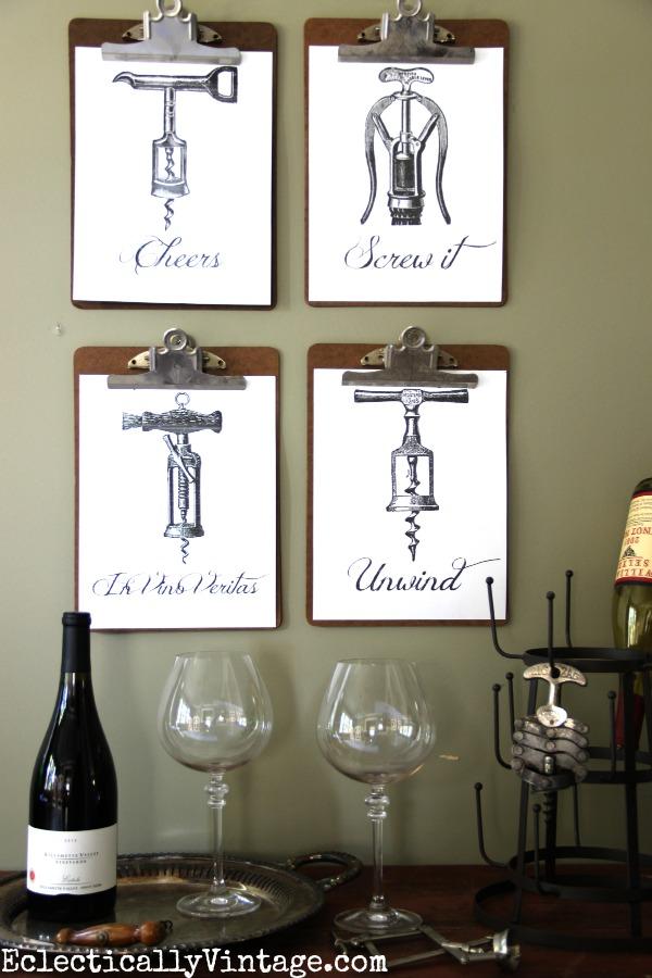 19 wine cheers free printable art
