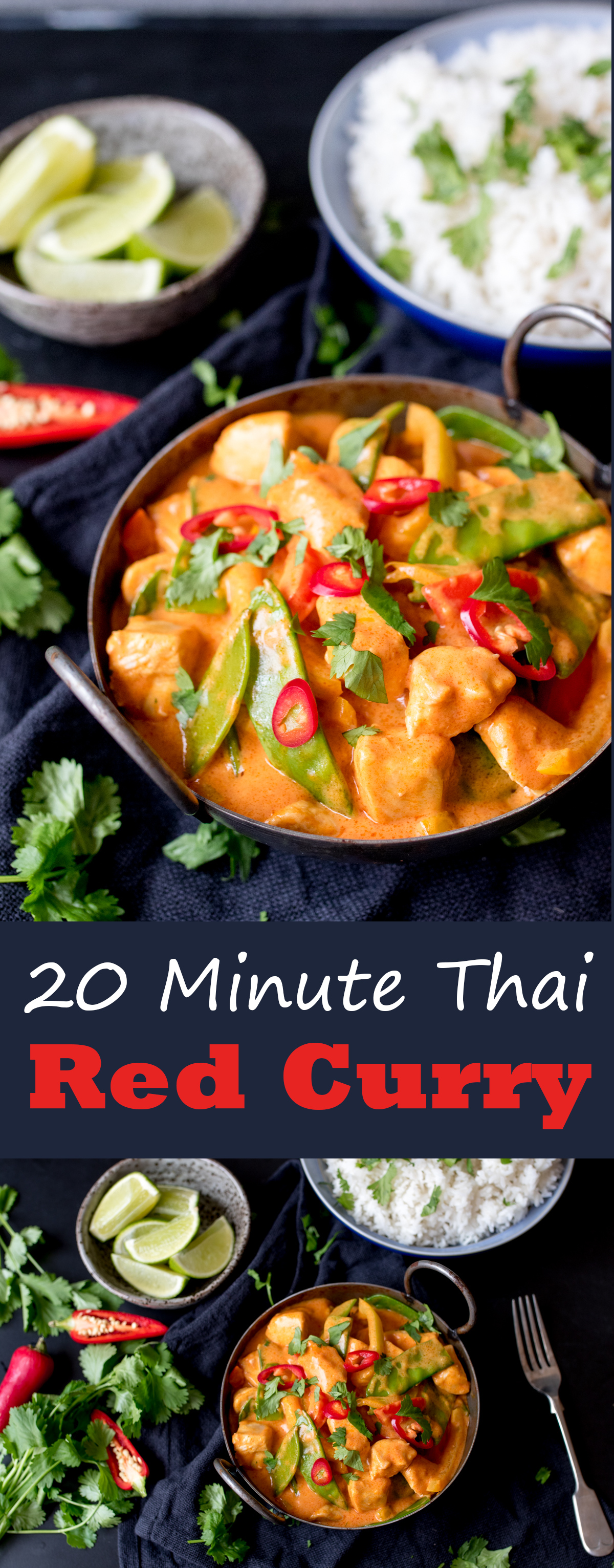20 minute red thai curry pinterest