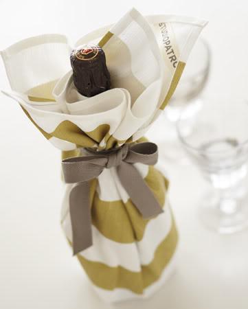 20 wine wrapped kitchen tea towel