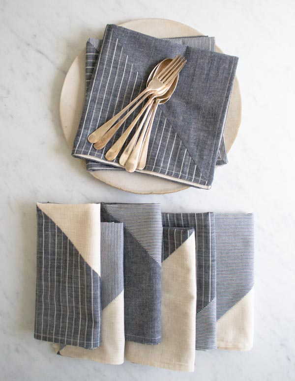 22 pieced napkins diy