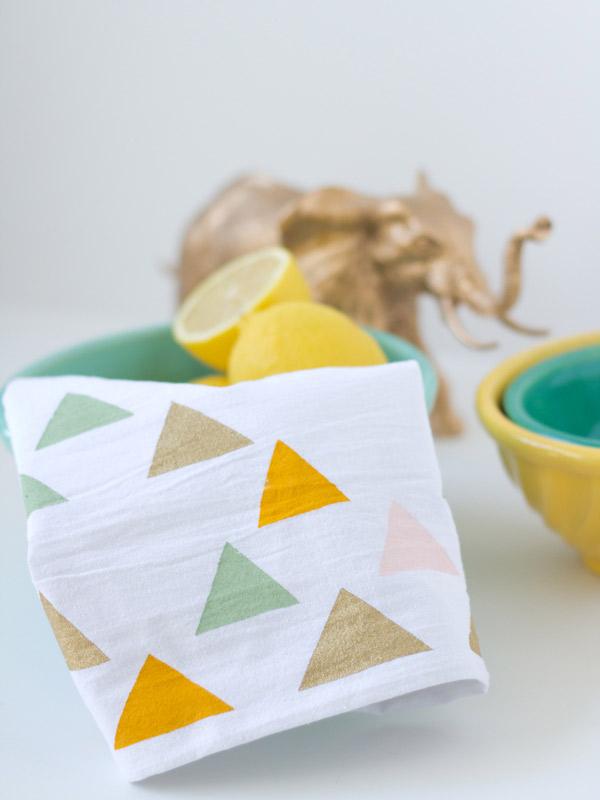 23 stencil tea towel