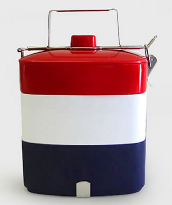 25 tri color lunch box