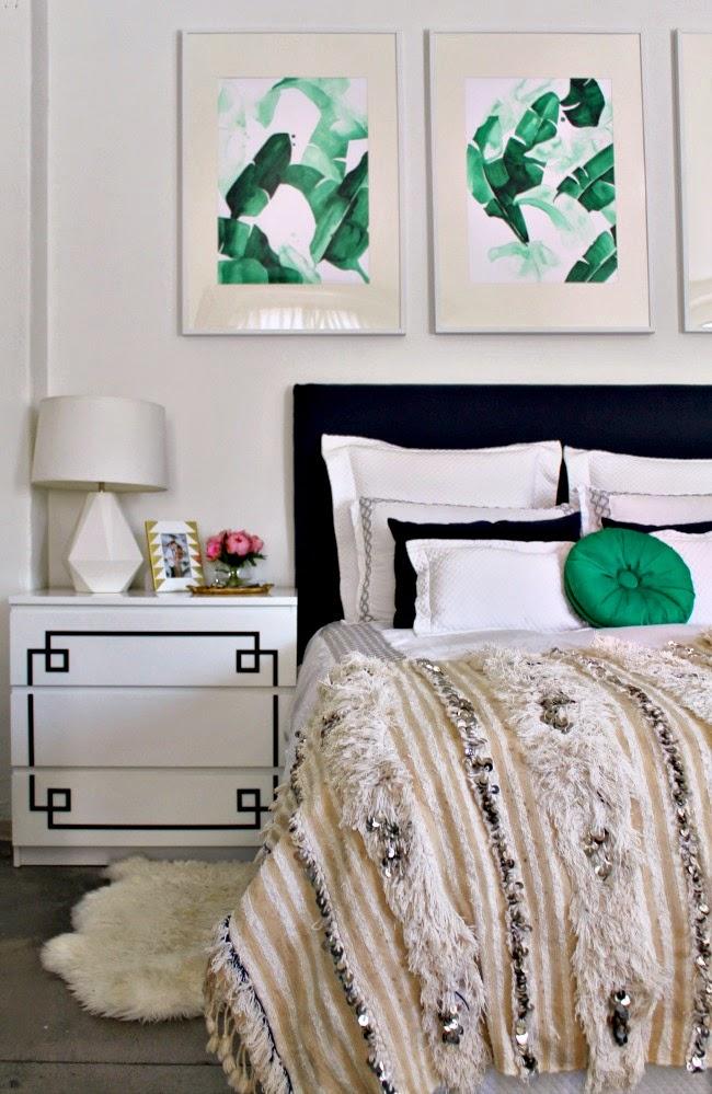 42 nightstand with overlay and moroccan wedding blanket jpg