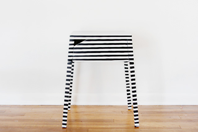 8 striped end table hack