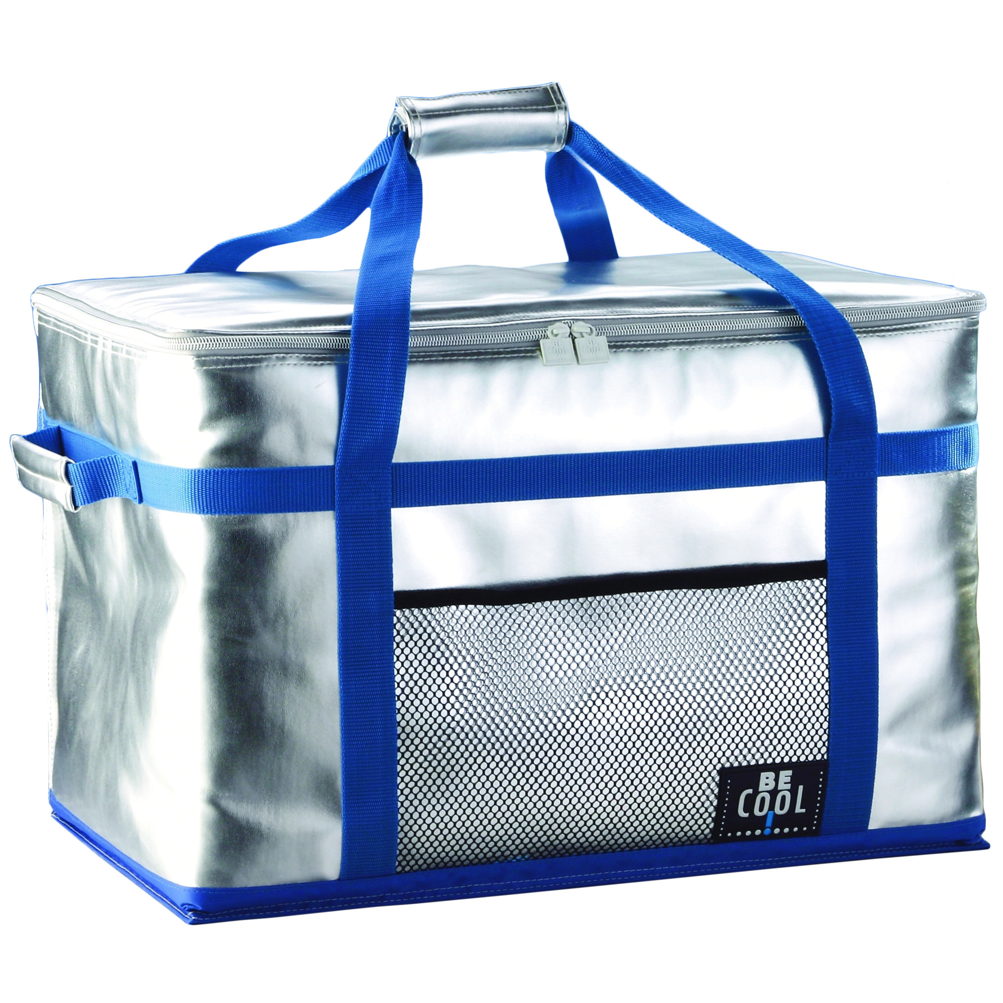 9 be cool silver blue lunch box