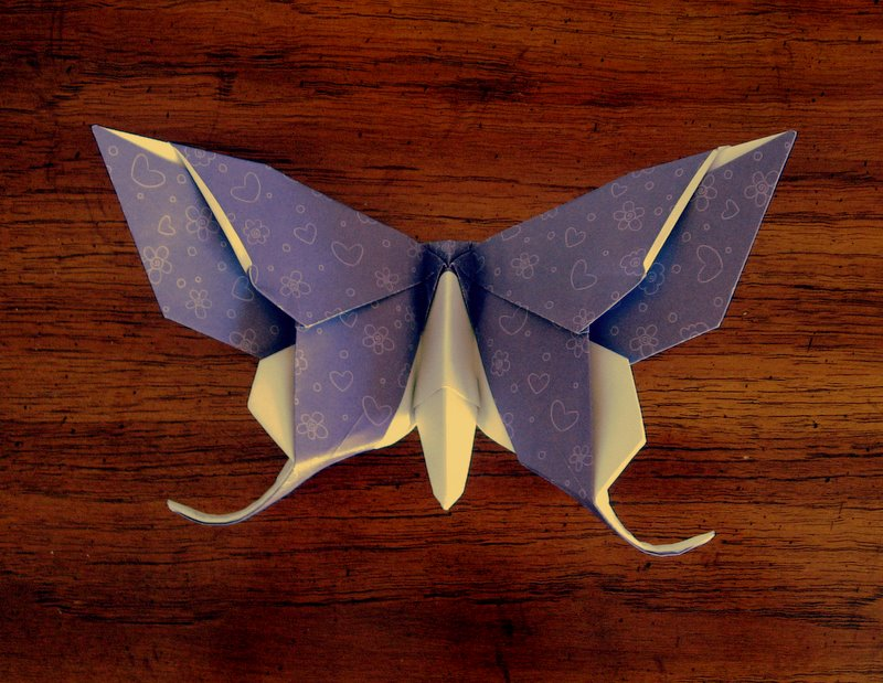 Advanced origami butterfly