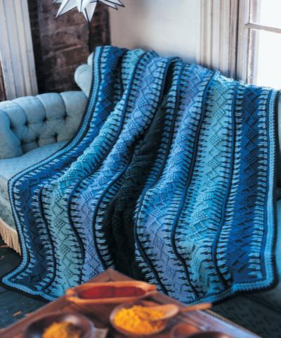 Alaskan blue tunisian blanket