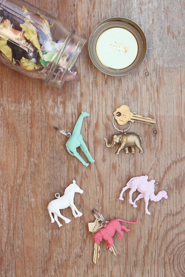 Animal toy key chains