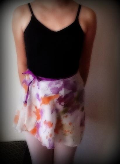 Basic ballet wrap skirt