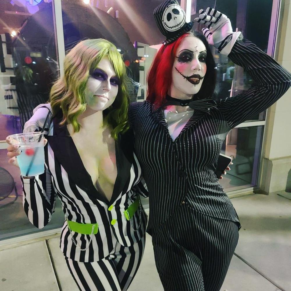 Beetlejuice matching couple outfits