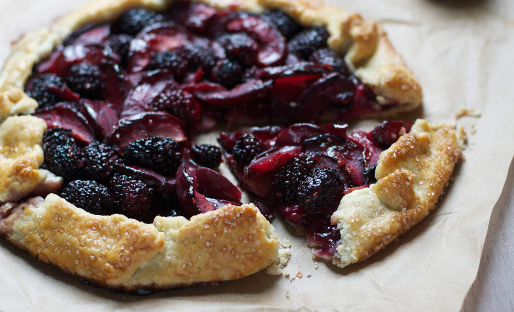 Blacbkerry plum galette